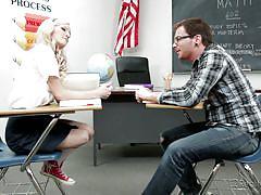 Blonde sucks her math teacher @ corrupt schoolgirls #07