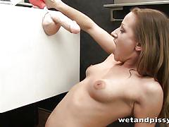Pissing in her bathroom for you