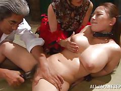 Sex slave has to suck cock