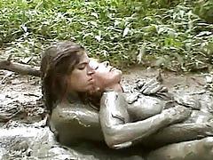 fetish, kinky, mud, lesbians