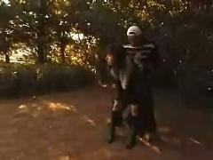 Japanese girl  have fun outdoor -part 1-
