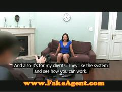 Brunette fucking with agent