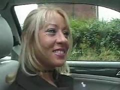 Uk milf enjoys flashing and fucking...