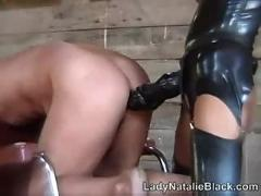 Lady natalie black strapon stables