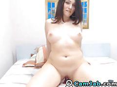 Riding a dildo till she orgasms