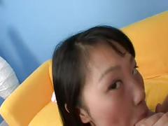 Asian chinese teen evelyn pov blowjob cumshot