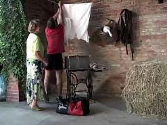 Granny martha gets help with her laundry