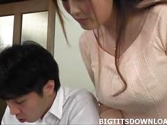 Big tits asian tit fucking a japanese guy