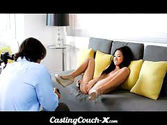 Casting couch-x - shamed asian teen fucks for cash