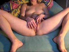Homemade girl alone dildo solo