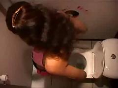 Girl was locked in toilet