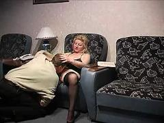 Russian mature with two boys
