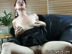 masturbation, babe, big tits, brunette, big boobs, black hair, busty, gorgeous, high heels, masturbating, smoking