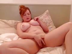 Big-tittied redhead babes hot cam show