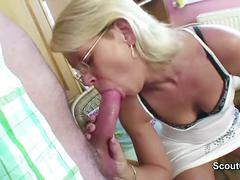 Mom get fucked by german friend of her son when husband away