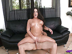 Adella rides that cock as her big beautiful tits bounce around.
