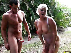 Sexy milf marilyn gets waxed by jimmy