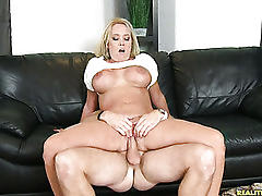 Tarra rides that cock and gets her pussy pounded from behind.