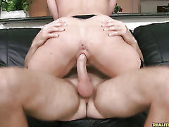 Kaylee rides that cock as her juicy ass bounces.