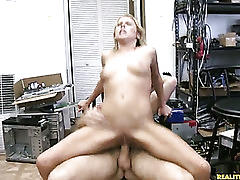 Tailor rides that cock and gets her pussy pounded.