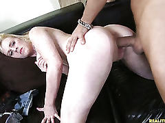 Hydii gets her succulent pussy rammed from behind.