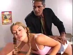 Teachers pet rides teacher cock