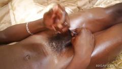 Black african twink nadir jerks off