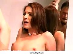 Sexy brunette sucking and getting fucked !