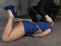 vibrator, asian, bdsm, drool, hood, suspension, hardtied, pogo, predicament, rope-bondage