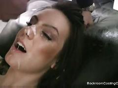 Busty brunette cheyenne casting fucked