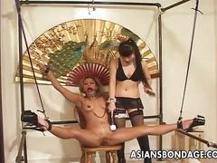 stockings, dildo, lesbian, tits, shaved, small, vibrator, toys, lingerie, asian, gag, bdsm, heels, bondage, japanese, high, japan, ring, jav, uncensored