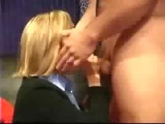Milf amateur business wife with glasses homemade blowjob