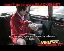 Faketaxi nymphomaniac flight attendant cant get...