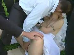 Public bride fuck