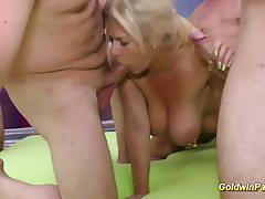 Goldwin pass gangbang goes wild with hot blond...