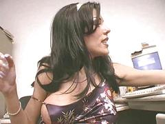 Milf uses big dildo to cum squirt finish
