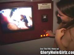 19yo hippie slut sucks dick in glory hole!