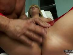Nurse ass hole checked by the doctor's cock