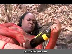 African lady picked from jungle