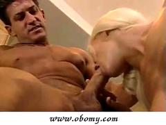 Hot blonde sucking and getting anal