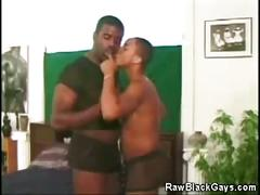 Black fuck buddies get together for some oral sex