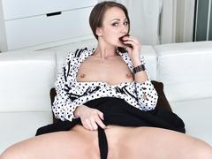 ass, masturbation, milf, butt, brunette, fingering, solo, wife