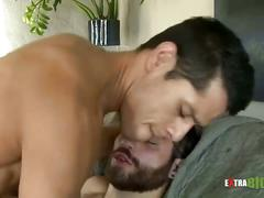Hot studs fucking after interview