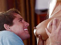 milf, blonde, big tits, blowjob, swimming area, nipples sucking, boobs groping, reality junkies, tyler nixon, bridgette b