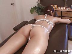 18 yo japanese girl receives a massage to remember