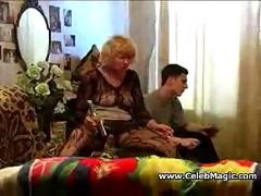 Horny mom seducing son