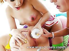 Lesbian gang rectal desire