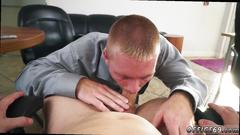 Straight men give blowjob gay keeping the boss happy