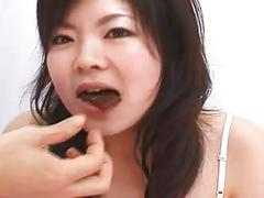 Japanese girl tongue play (5)