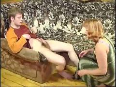 Naughty redhead anal